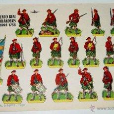 Coleccionismo Recortables: ANTIGUO RECORTABLE BRUGUERA - REGIMIENTO REAL DE HIGHLANDERS INGLATERRA 1758 - AÑO 1960 - 23,5 X 17 . Lote 38265427