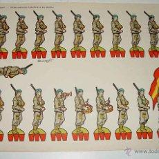 Coleccionismo Recortables: ANTIGUO RECORTABLES TORAY - PARACAIDISTAS ESPAÑOLES EN DESFILE - N. 1 - ILUSTRADO POR BEAUMONTO - MI. Lote 38265631