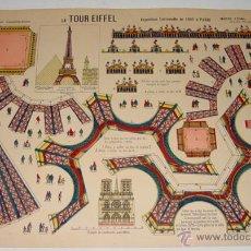 Coleccionismo Recortables: ANTIGUO RECORTABLE LA TOUR EIFFEL . IMAGERIE D´EPINAL Nº 418 - MIDE 50 X 38 CMS.. Lote 38265876