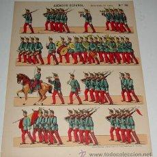 Coleccionismo Recortables: ANTIGUO RECORTABLE ED. PALUZIE - EJERCITO ESPAÑOL . INFANTERIA DE LINEA - Nº 50 - MIDE 39 X 29,5 CM. Lote 38265919
