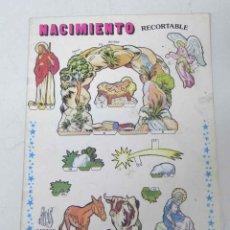 Coleccionismo Recortables: ANTIGUO RECORTABLE NACIMIENTO - BELEN - ED. EDIVAS, BARCELONA - 4 HOJAS Y UNA CARTULINA DURA PARA IR. Lote 38271768