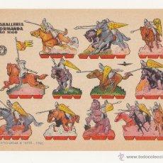 Coleccionismo Recortables: RECORTABLES BRUGUERA 1960 , CABALLERIA NORMANDA AÑO 1000. Lote 40320876