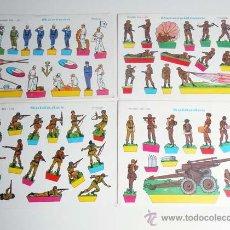 Coleccionismo Recortables: (2) LOTE 4 RECORTABLES EVA 1105 SOLDADOS 1104 PARACAIDISTAS 1103 1102 MARINOS SOLDIERS. Lote 43419128