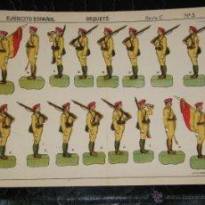 Coleccionismo Recortables: RECORTABLE REQUETE EJERCITO ESPAÑOL MILITAR SOLDADOS - SERIE C Nº 3. Lote 43503549
