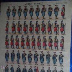 Coleccionismo Recortables: PELLERIN.IMAGERIE DEPINAL Nº 732 ARMEE TURQUE. Lote 44024084