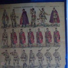 Coleccionismo Recortables: .IMAGERIE PELLERIN Nº 895 INFANTERIE MONTENEGRINE TENUE DE CAMPAGNE & TENUE NATIONALE. Lote 44024125