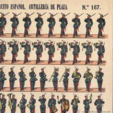 Coleccionismo Recortables: RECORTABLE PALUZIE - EJÉRCITO ESPAÑOL , ARTILLERÍA DE PLAZA - Nº 167. Lote 45345991
