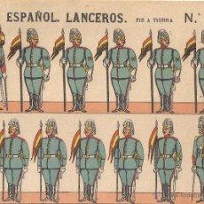 Coleccionismo Recortables: RECORTABLE PALUZIE - EJÉRCITO ESPAÑOL , LANCEROS - Nº 251, PIE A TIERRA. Lote 45346144