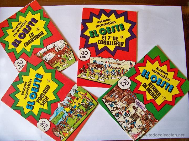 Coleccionismo Recortables: Colección de 8 cuadernillos con recortables EL OESTE - Foto 2 - 45485735