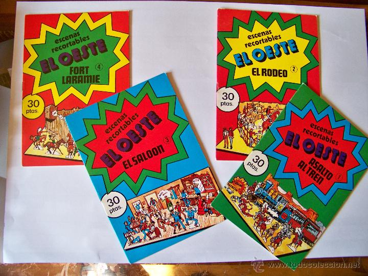 Coleccionismo Recortables: Colección de 8 cuadernillos con recortables EL OESTE - Foto 3 - 45485735
