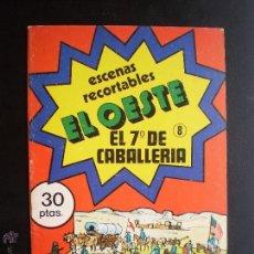 Coleccionismo Recortables: RECORTABLES-.EL OESTE. EL 7ª DE CABALLERIA. Nº 8. Lote 45818587
