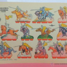 Coleccionismo Recortables: CABALLERIA NORMANDA (1000 DC) - LÁMINA RECORTABLE AÑO 1960 - BRUGUERA - ORIGINAL. Lote 46007038