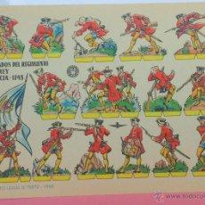 Coleccionismo Recortables: SOLDADOS REY DE FRANCIA (1743 DC) - LÁMINA RECORTABLE AÑO 1960 - BRUGUERA - ORIGINAL. Lote 46007667