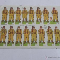 Coleccionismo Recortables: RECORTABLE, DESFILE DE INFANTERIA, ROSITA Nº 27, MIDE 18 X 12,5 CMS.. Lote 47159449