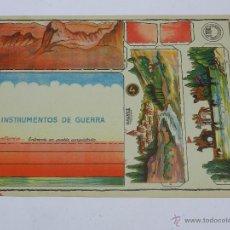 Coleccionismo Recortables: INSTRUMENTOS DE GUERRA, CABALLERIA, N. 4, RECORTABLE ORIGINAL COLECCION CONSTRUCIONES COSTALES, DIBU. Lote 47159598