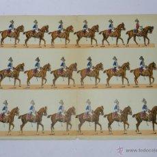 Coleccionismo Recortables: ANTIGUO RECORTABLE DE CABALLERIA, MUY ANTIGUO, MIDE 44 X 31,5 CMS. NO CONSTA MARCA EDITORIAL. Lote 47198796