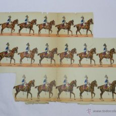 Coleccionismo Recortables: ANTIGUO RECORTABLE DE CABALLERIA, MUY ANTIGUO, MIDE 44 X 31,5 CMS. NO CONSTA MARCA EDITORIAL, TIENE . Lote 47198833