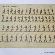 Coleccionismo Recortables: EJERCITO ESPAÑOL, RECORTABLE REAL CUERPO DE ALABARDEROS Nº 35, SUCESORES DE HERNANDO, MIDE 44 X 32 C. Lote 47199280