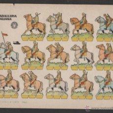 Coleccionismo Recortables: ANTIGUO RECORTABLE BRUGUERA CABALLERIA ITALIANA. Lote 47859877