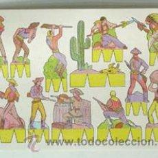 Coleccionismo Recortables: LÁMINA RECORTABLE DE INDIOS Y VAQUEROS. Lote 47932662
