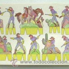 Coleccionismo Recortables: LÁMINA RECORTABLE DE INDIOS Y VAQUEROS. Lote 47932749