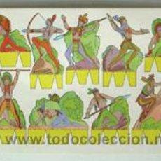 Coleccionismo Recortables: LÁMINA RECORTABLE DE INDIOS Y VAQUEROS. Lote 47932886