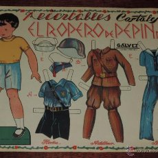 Coleccionismo Recortables: ANTIGUO RECORTABLE EL ROPERO DE PEPIN Nº 4, RECORTABLES COSTALES, GUERRA CIVIL, CON LOS UNIFORMES DE. Lote 48219125