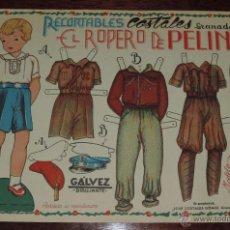 Coleccionismo Recortables: ANTIGUO RECORTABLE EL ROPERO DE PEPIN Nº 3, RECORTABLES COSTALES, GUERRA CIVIL, CON LOS UNIFORMES DE. Lote 48219156