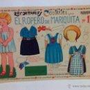 Coleccionismo Recortables: RECORTABLE MUÑECA GUERRA CIVIL - RECORTABLES COSTALES, EL ROPERO DE MARIQUITA NUM.1, GALVEZ. Lote 104783664