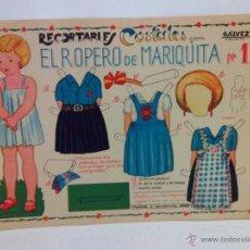 Coleccionismo Recortables: RECORTABLE MUÑECA GUERRA CIVIL - RECORTABLES COSTALES, EL ROPERO DE MARIQUITA NUM.1, GALVEZ K1. Lote 104783664