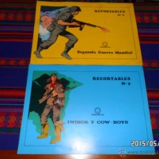 Coleccionismo Recortables: RECORTABLES NºS 1 Y 2 SEGUNDA GUERRA MUNDIAL E INDIOS Y COW-BOYS. CREACIONES SOL. RAROS. BE. . Lote 49226598