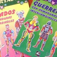 Coleccionismo Recortables: RECORTABLE SOLDADOS CON ARMADURAS INTERCAMBIABLES Y GUERREROS ED ALIMARA DISPESA. Lote 49867683