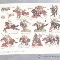 Coleccionismo Recortables: RECORTABLE BRUGUERA. CABALLERIA NORMANDA ALO 1000. DEP.LEGAL 15971-1960. Lote 50099074