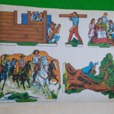 Coleccionismo Recortables: RECORTABLE EDIVAS SERIE LEJANO OESTE. Lote 50609543
