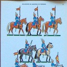 Coleccionismo Recortables: RECORTABLE BARREIRA MILITARIA Nº 34: ESCUADRÓN DE LANCEROS DE FARNESIO. Lote 50889604