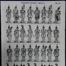 Coleccionismo Recortables: EJERCITO ESPAÑOL. MUSICA.. Nº25. IMPRENTA Y ESTAMPADOS DE LLORENS. HACIA 1840?. Lote 51143484