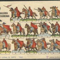 Coleccionismo Recortables: RECORTABLES BRUGUERA 1960. CABALLERIA NORTEAFRICANA. Lote 51663443