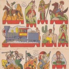 Coleccionismo Recortables: C37- LOTE DE 2 ANTIGUOS RECORTABLES. SERIE OESTE. EDIT.ROMA. Lote 51923952