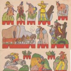 Coleccionismo Recortables: C38 - LOTE DE 2 ANTIGUOS RECORTABLES. SERIE OESTE. EDIT.ROMA. Lote 51924006