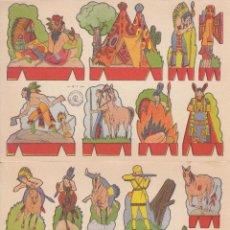 Coleccionismo Recortables: C41- LOTE DE 2 ANTIGUOS RECORTABLES. SERIE OESTE. EDIT.ROMA. Lote 51924045