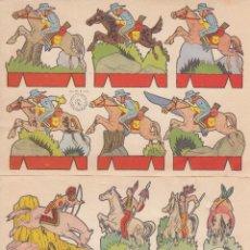 Coleccionismo Recortables: C42- LOTE DE 2 ANTIGUOS RECORTABLES. SERIE OESTE. EDIT.ROMA. Lote 51924056
