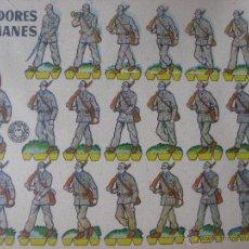 Coleccionismo Recortables: LÁMINA RECORTABLE BRUGUERA. CAZADORES ALEMANES. 1960. ORIGINAL.. Lote 52448351