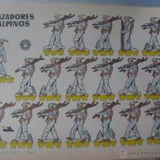 Coleccionismo Recortables: LÁMINA RECORTABLE BRUGUERA. CAZADORES ALPINOS. 1960. ORIGINAL.. Lote 52448380