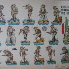 Coleccionismo Recortables: LÁMINA RECORTABLE BRUGUERA. FUSILEROS ITALIANOS DE 1916. 1960. ORIGINAL.. Lote 52448439