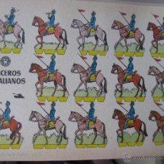 Coleccionismo Recortables: LÁMINA RECORTABLE BRUGUERA. LANCEROS ITALIANOS. 1960. ORIGINAL.. Lote 52448459