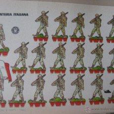 Coleccionismo Recortables: LÁMINA RECORTABLE BRUGUERA. INFANTERÍA ITALIANA. 1960. ORIGINAL.. Lote 52448471