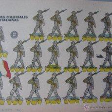 Coleccionismo Recortables: LÁMINA RECORTABLE BRUGUERA. TROPAS COLONIALES ITALIANAS. 1960. ORIGINAL.. Lote 52448498