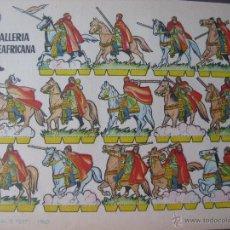 Coleccionismo Recortables: LÁMINA RECORTABLE BRUGUERA. CABALLERIA NORTEAFRICANA. 1960. ORIGINAL.. Lote 52448526