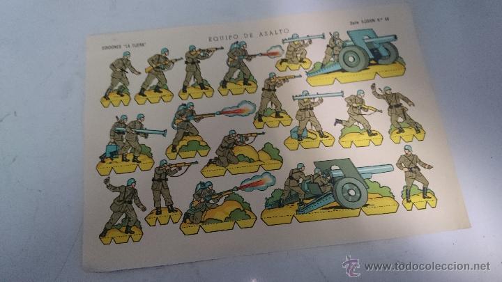 RECORTABLE EDICIONES LA TIJERA EQUIPO DE ASALTO Nº46 ROJO56 (Coleccionismo - Recortables - Soldados)