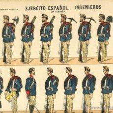 Coleccionismo Recortables: RECORTABLE DE SOLDADOS: EJERCITO ESPAÑOL, INGENIEROS (ED.PALUZIE NUM. 51 BIS). Lote 53264823
